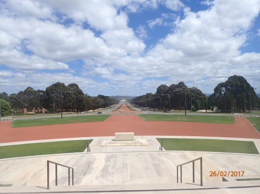 ANZAC Parade from the War Memorial