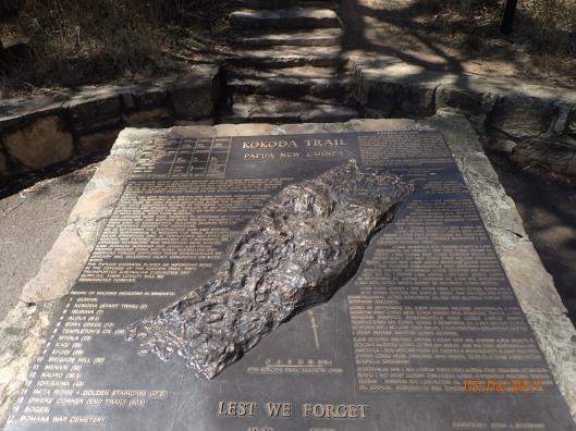 The start of the Kokoda Trail Memorial